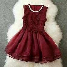 Bordowa sukienka :)