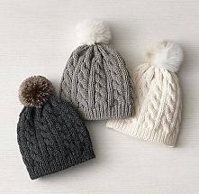 Piękne sweterkowe czapki