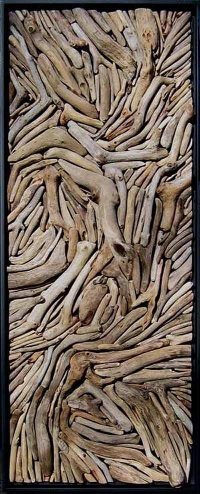 obraz z drewna wyrzuconego przez morze