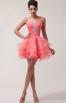 Organzowa sukienka na wesel...
