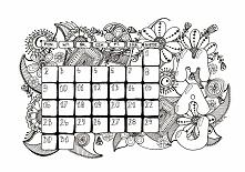 Darmowy kalendarz do kolorowania - maj