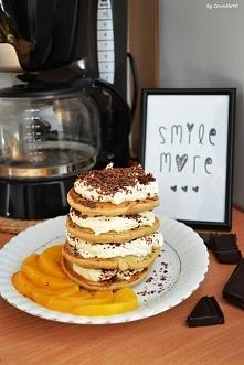 Tiramisu pancakes - idealny początek weekendu :) Wykorzystałam przepis z Filozofii Smaku.