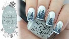 Idealny zimowy manicure :) Wyjątkowy i wyróżniający się spośród innych, jednolitych kolorów :)