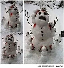 Creepy snowman
