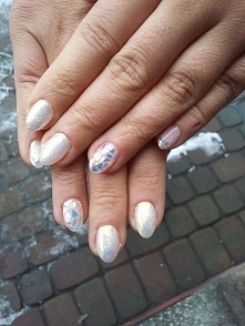 Mój zimowy manicure! Efekt ...