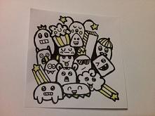 Mini Doodle mojego autorstwa :) Tym razem z odcieniem żółtego.