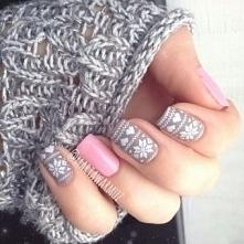 Idealnie zimowy manicure