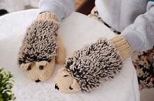 rękawiczki jeże ^_^