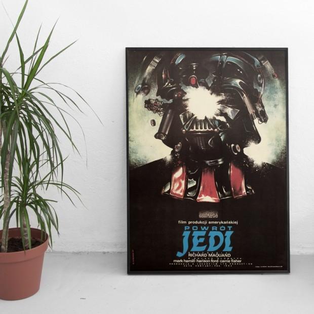Polski plakat z lat 80., Gwiezdne Wojny: Powrót Jedi (B1, Offset, Repprint 2015)