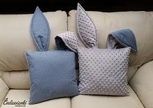 poduszki zajączki by Cudawianki Handmade