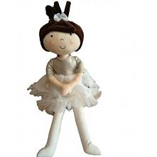 Przyjechały do nas przepiękne lale! Pierwsza już na stronie sklepu!  Szmaciana Lalka Hania Szatynka. Uśmiechnięta Ballerina 37cm o ciemnych oczkach w jednoczęściowym ubranku zap...