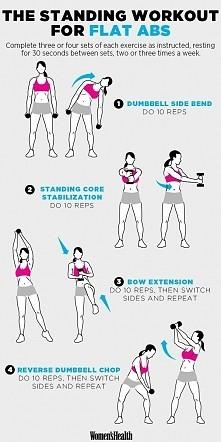 ABS workout. Ćwiczenia na b...