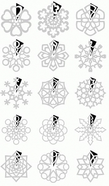How to cut snowflakes. The ...