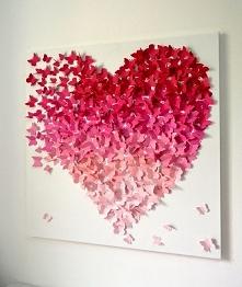 3D Butterfly Wall Art in Pink Ombre- Modern 3D Butterfly Art for Girls Room, Nursery, Wedding Gift, Statement Art Piece, Romantic Art