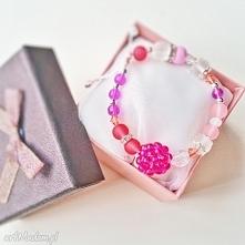 bransoletka różowa fioletow...