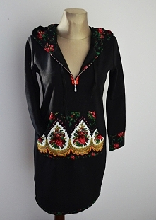 Wygodna folkowa sukienka dresowa Rozmiar od XS do XXL Cena 140 zł