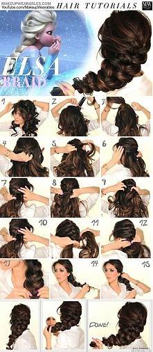 elsa włosy