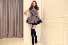 szara dresowa sukienka :)