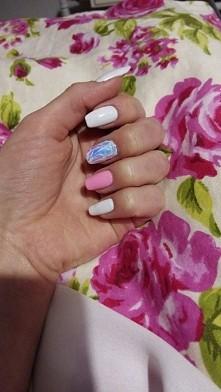 hybrydy semilac glass nails :)