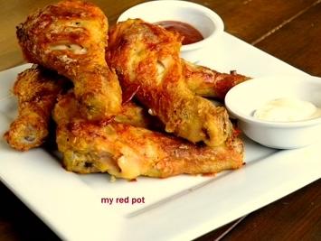 Pieczony Kurczak Kentuckysoczyste Pałki Kurczaka W Idealnej C Na