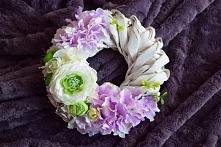 Piękny wianek w odcieniach fioletu,zapraszam na Facebooka Dziedzicka Dekoracje
