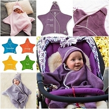Wonderful Star Fleece Baby Wrap Design