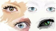 Malarstwo cyfrowe w programie Artrage, ćwiczenie malownania oczu. BLACK WORN ...