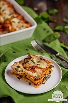 Lasagne z dynią piżmową, szpinakiem i mozzarellą