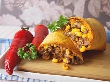 Chrupiące burrito z wołowiną
