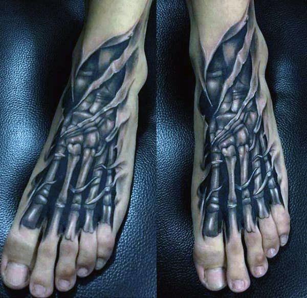 Tatuaże 3d Na Stopie Na Tatuaże Zszywkapl