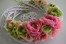 Piękny wiosenny wianek, zapraszam na Facebooka Dziedzicka Dekoracje