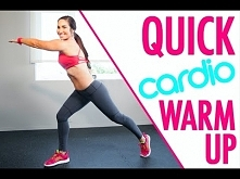 Quick Bodyweight Cardio Workout Warmup | Natalie Jill