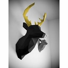 jeleń 3d z papieru