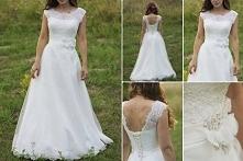 wspaniała suknia ślubna!