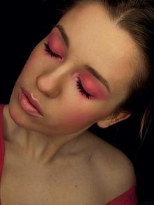 różowy smokey eye red-mylip...