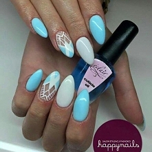 blue :) Prace autorstwa Karoliny z Happy Nails ---> facebook. com/happynai...