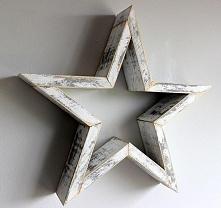 dekoracyjne , drewniane gwiazdy na ścianę :)