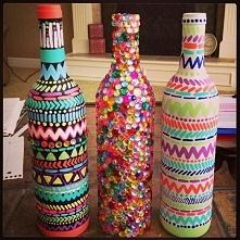 DIY dekoracja butelek