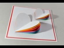 How to Make - Valentine's Day Card Rainbow Heart Greeting Card - Step by Step   Kartka Na Walentynki
