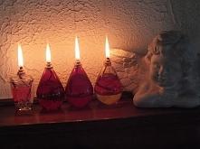 Lampki oliwne z butelek od perfum