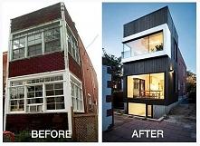 Wąski dom jednorodzinny w Kanadzie - przed i po metamorfozie czyli zobacz jak...