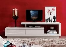 Energetyczna czerwona ściana :)   Szafka RTV TARA lakier: biała / biało-szara. Więcej po kliknięciu w zdjęćie