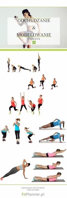 Zestaw ćwiczeń TABTA ❤️ na odchudzanie i modelowanie sylwetki :) Wykonaj każd...