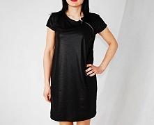 sukienka z ekoskóry + ZIP___rozmiary 36-50____99zł