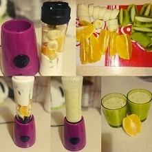 smoothie :) part 1 kiwi/banan/pomarańcza/jogurt naturalny MIKSER UNIWERSALNY ...
