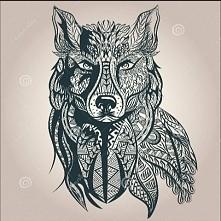 Wilk idealny na tatuaż