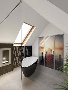 Wnętrze stylowej, nowoczesnej łazienki w apartamencie koło Bydgoszczy. Projek...