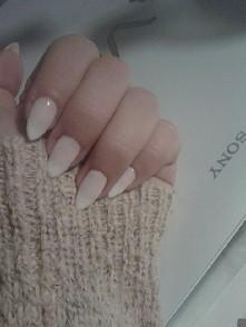 pudrowo-białe ombre :-)