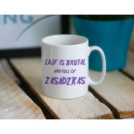 Kubek LAJF IS BRUTAL littlethings.pl