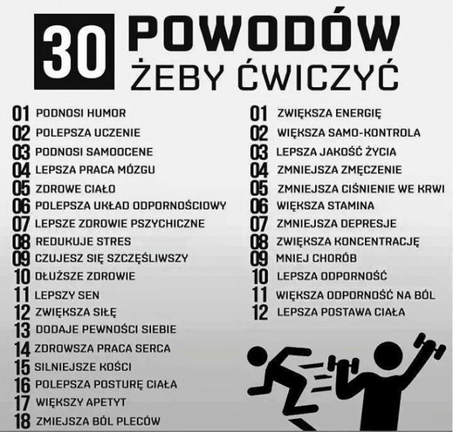 30 powodów - dobra motywacja ;)
